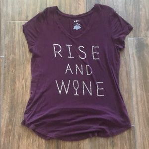 "Worn once Apt 9 ""Rise and Wine"" shirt size medium!"